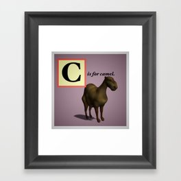 Animal Alphabet C Framed Art Print