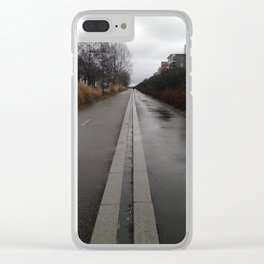 the road of life urban Paris Clear iPhone Case