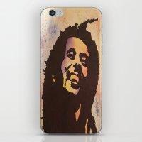 marley iPhone & iPod Skins featuring Rainbow Marley by Gabrielle Fazio
