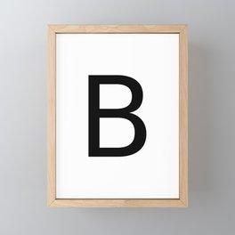 Capital B Framed Mini Art Print