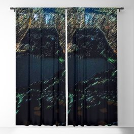 Central Park - New York City Nighttime Landscape Painting by Jeanpaul Ferro Blackout Curtain