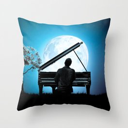 light in light sound Throw Pillow