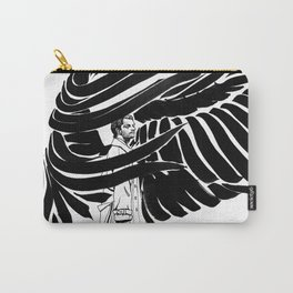 Winged Castiel Carry-All Pouch