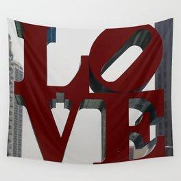 Love Philadelphia Sculpture Wall Tapestry