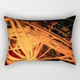 Roof Strut Abstract in Orange Rectangular Pillow