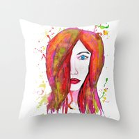 valentina Throw Pillows featuring Valentina by Laurie Art Gallery