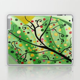 Colorful Abstract Tree Acrylic Painting Art  by Saribelle Rodriguez Laptop & iPad Skin