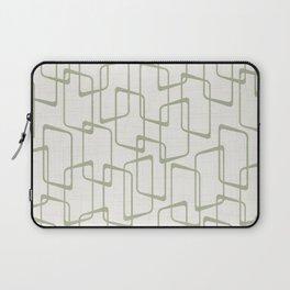 Reverse Beryl Green Mid Century Geometric Pattern Laptop Sleeve