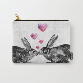 Bunny Rabbit Art - Hopped Up On Love 2 - By Sharon Cummings Carry-All Pouch