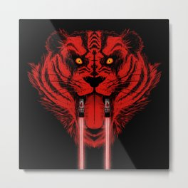 Dark Side Saber-Toothed Tiger Metal Print