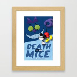 Death to all Mice Framed Art Print