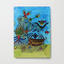 about angels and pirates Metal Print