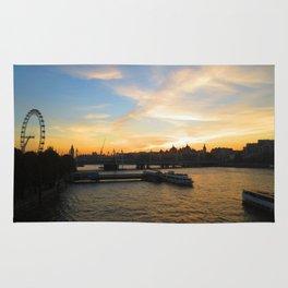 sunset in london Rug