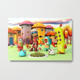 Lilly in Pixyland - The Frings Village Metal Print