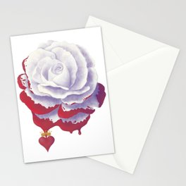 Painted Rose cut out Stationery Cards