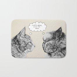 Cat Confusion Bath Mat