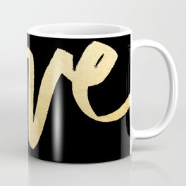 Love Gold Black Type Coffee Mug