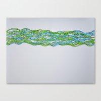 brain waves Canvas Prints featuring Brain Waves by Jenette Kozlowski