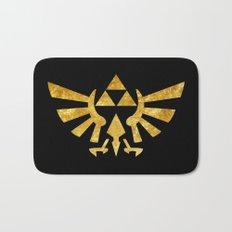 Zelda Golden Hylian Crest Bath Mat