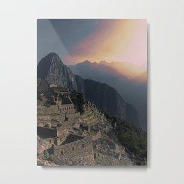 Machu Picchu Peru in Late Afternoon Metal Print