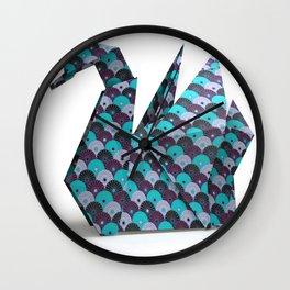 cygne origami Wall Clock