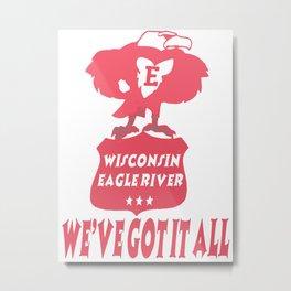 Wisconsin Eagle River Men Dark T Shirt Metal Print