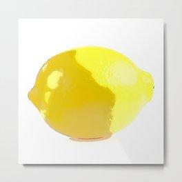Lemon Watercolor Metal Print