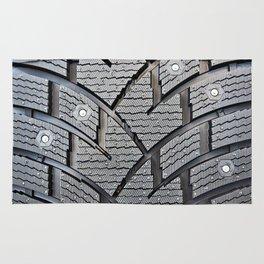 Background pattern winter stud tire Rug