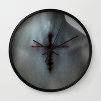 tatoo Wall Clocks featuring TATOO by lucborell