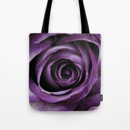 Purple Rose Decorative Flower Tote Bag