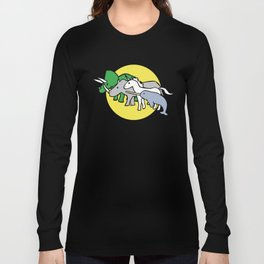 Horned Warrior Friends (unicorn, narwhal, triceratops, rhino) Long Sleeve T-shirt