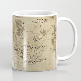 Lord Of The Ring (Map) Coffee Mug