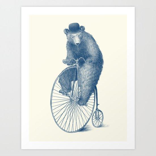Morning Ride - Blue Option Art Print