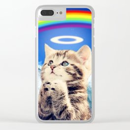 rainbow cat Clear iPhone Case