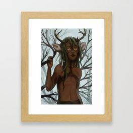 The Deer Framed Art Print