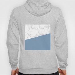marble and ocean blue Hoody