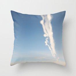 Chem Trails Throw Pillow