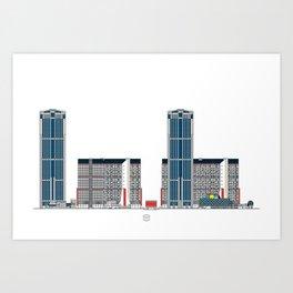 Complejo Parque Central Art Print