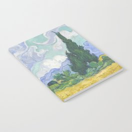 Vincent van Gogh - Wheat Field With Cypresses Notebook
