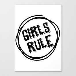 girls rile wall art for kids Canvas Print