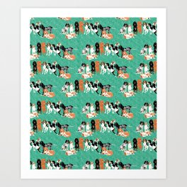 Coonhound row Art Print