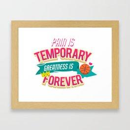 greatness is forever Framed Art Print