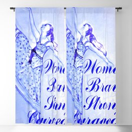 Woman Brave Strong Courageous Blackout Curtain
