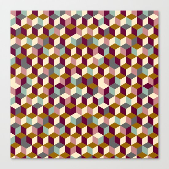 Cubic Pattern Canvas Print