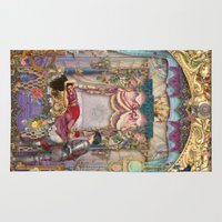 sleeping beauty Area & Throw Rugs featuring Sleeping Beauty by Aimee Stewart
