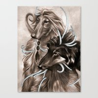 the hound Canvas Prints featuring Hound Dog by Estúdio Marte