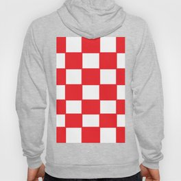 Red chess board Hoody