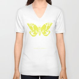 We Must Learn to Help Each Other -Mothra vs. Godzilla Unisex V-Neck