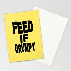 Feed If Grumpy Stationery Cards