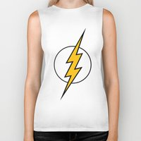 the flash Biker Tanks featuring Flash by Merioris
